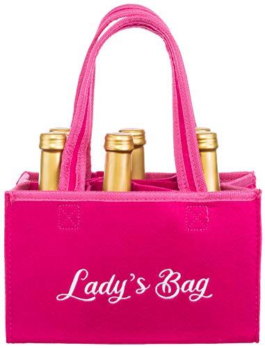Brandsseller Damen Handtasche Lady´s Bag Flaschenkorb Flaschenträger Einkaufstasche Aufbewahrungstasche...