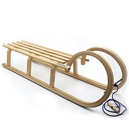 Holzfee Colint Baran 120 Hörnerrodel Hörnerschlitten Holzschlitten Schlitten mit Leine