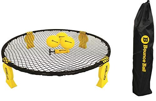 L.A. Sports Bounce Ball Deluxe Set Roundnet Ballspiel mit Rundnetz Spielbällen Tragetasche