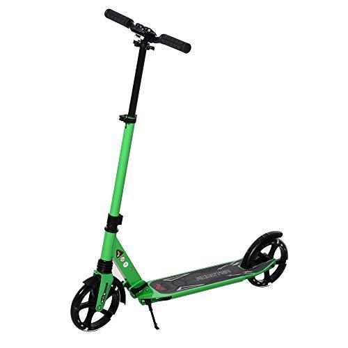 HOMCOM Kinderroller Scooter Tretroller Cityroller mit beleuchteten Rädern für 14+ Kinder...