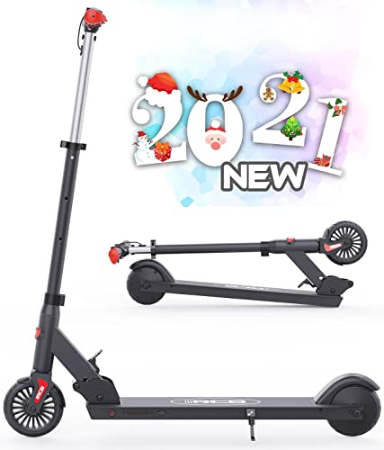 HOVERMAX Elektro Scooter für Kinder, Faltbarer und Verstellbarer Elektroroller, Höchstgeschwindigkeit...