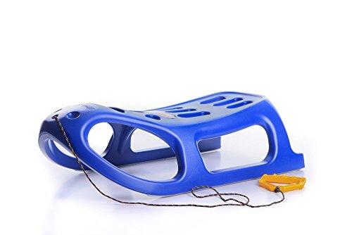 Unbekannt Schlitten Kinderschlitten Rodel aus Kunststoff Griff Zugseil Little 4 Farben (Blau)