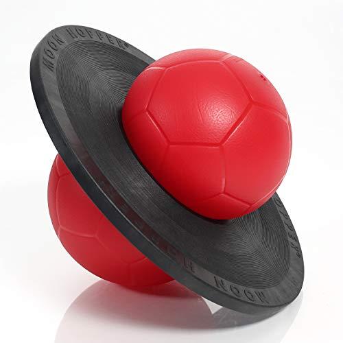 Togu Moonhopper Sport Hüpfball rot/schwarz, bis 110kg belastbar