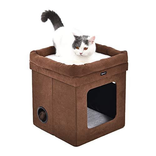Amazon Basics - Faltbares Katzenhaus, Braun