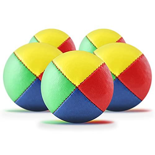 5er Set Jonglierbälle mit Jonglage-Anleitung zum Download - 62mm Jonglierball - Füllung aus...