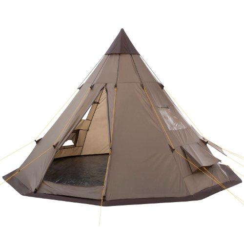 CampFeuer - Tipi Zelt (Teepee) - Indianerzelt, Braun/Hell-Braun