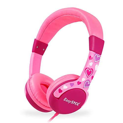 EasySMX Kinderkopfhörer, HiFi-Kopfhörer Leicht-Kopfhörer mit Laustärkebegrenzung, verstellbare...