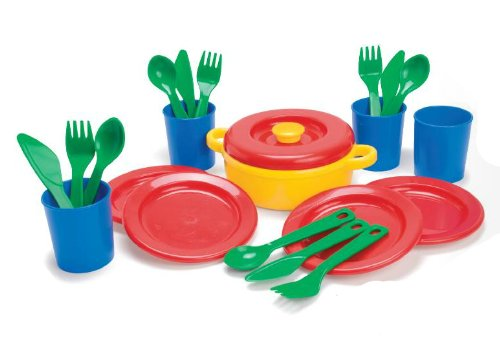 Dantoy Andreu Toys014381 - Speiseservice 4 Pers 22 teilig