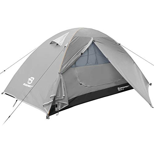 Bessport Zelt 1 Personen Ultraleichte Camping Zelte 3-4 Saison Kuppelzelt Kleines Packmaß, Wasserdicht...