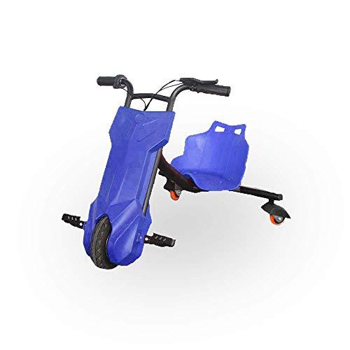 BEEPER- Drift-Trike Elektrisches Kart für Kinder, Blau, 100 W, 12 V, 6, 5 Ah RDT100-B