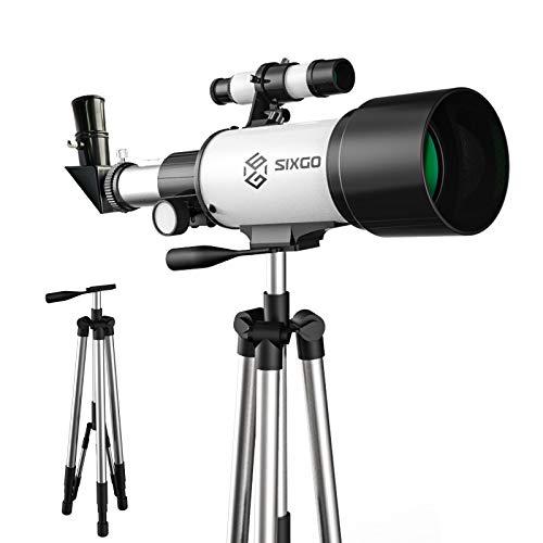 Astronomisches Telescope SIXGO Teleskop für Kinder und Anfänger Astronomy 70/300 Objektiv Refraktor...