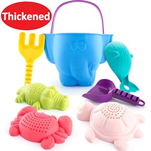 CubicFun Sandspielzeug Strandspielzeug für Kleinkinder Kinder Jungen Mädchen, Sand Eimer Rechen...