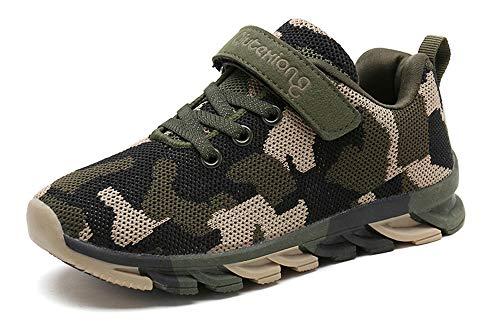 MAOGO Schuhe Kinder Sportschuhe Jungen Sneaker Camouflage Atmungsaktive Freizeitschuhe für Mädchen (27,...