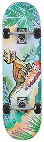 AREA Komplett Skateboard für Kinder 28' Zoll - ab 5 Jahre mit Aluminium Achse (Dino) …