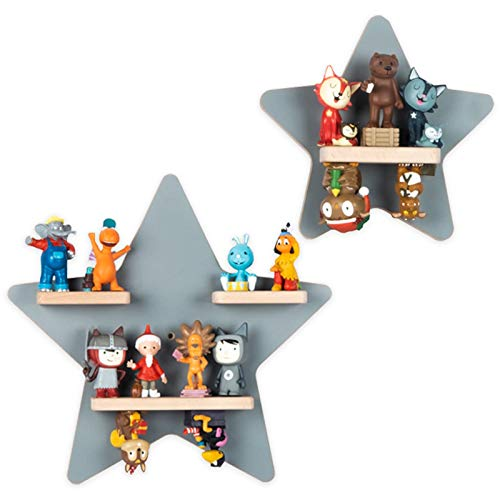 BOARTI das Original Kinder Regal Sammelset Sterne in Grau TÜV/ GS-Zertifiziert - geeignet für ca. 22...