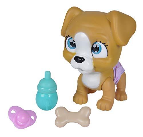 Simba 105953050 Pamper Petz Hund, Tierbaby mit Trink und Nässfunktion, mit magischer Pfote, mit...