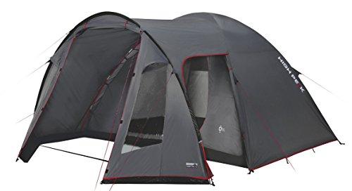 High Peak Kuppelzelt Tessin 5, Campingzelt mit Vorbau, 2 Eingänge, Familien-Zelt für 5 Personen, extra...