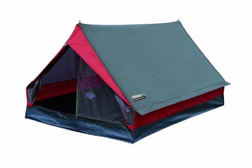 High Peak Hauszelt Minipack, Campingzelt für 2 Personen, Festivalzelt mit Wannenboden, 1500 mm...