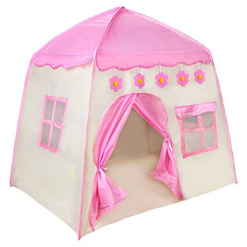 Zwini Kinderspielzelt Kinderzelt, Spielzelt Prinzessin für Mädchen, im Kinderzimmer,...
