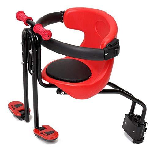 Lvhan Fahrradkindersitz - Sicherheit Kind Fahrradsitz, Vorne Babysitz mit Pedal und Griff für Fahrrad...