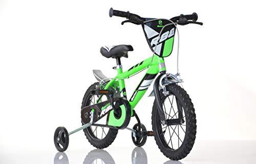 Jungen Kinderfahrrad grün 416U Jungenfahrrad – 16 Zoll   TÜV geprüft   Original   Kinderrad mit...