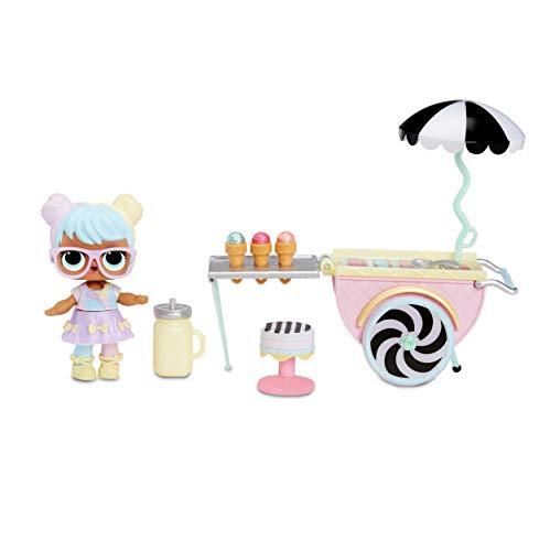 L.O.L. Surprise! 564911E7C Furniture - Puppenmöbel und Sammelfigur mit Zubehör Ice Cream Pop-Up mit Bon...