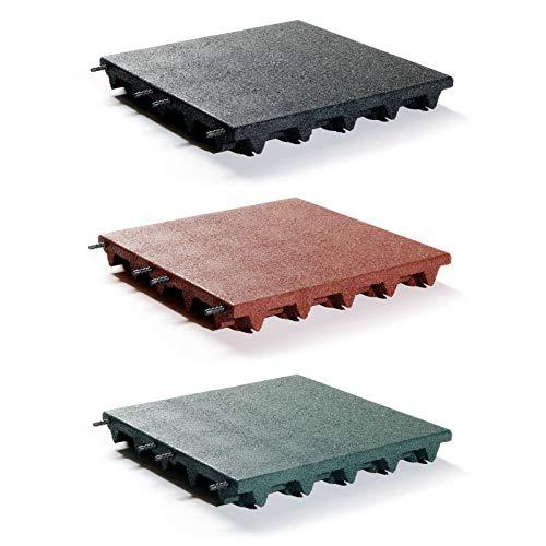 Fallschutzmatten 50x50 cm grün Stärke 75 mm nach EN 1177:2008 von Gartenpirat®