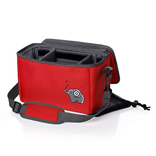 Musikbox-Tasche für Toniebox, Tonies und Zubehör   ararot   Verstellbare Innenfächer   Mit Netzbeutel...