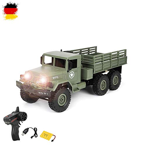 HSP Himoto 2.4GHz RC Ferngesteuerter 6WD Off-Road Militär Army Truck Crawler Fahrzeug Transporter,...