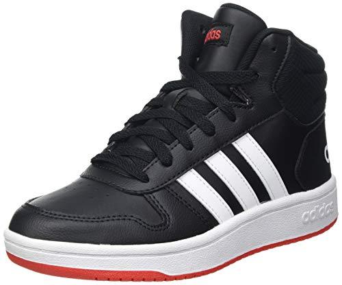 adidas Hoops MID 2.0 K Sneaker, Core Black/Cloud White/Vivid Red, 38 2/3 EU