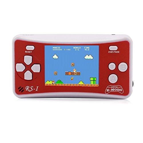 E-WOR Tragbare Handspielkonsole 2,5 'LCD Retro Video Gaming 162 Spiele Eingebautes Spiel im Fernsehen...