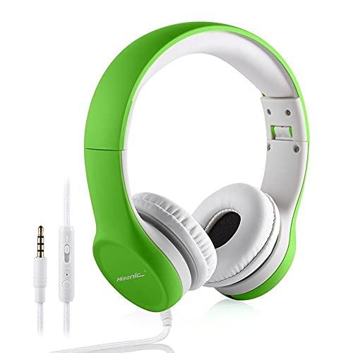 Kopfhörer für Kinder, Hisonic Leicht kopfhörer Kinder mit 85 db Laustärkebegrenzung und Mikrofon,...