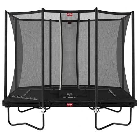 BERG Ultim Favorit Trampoline Regular 280 cm schwarz + Safety Net Comfort   Premium Trampolin, Hohe...