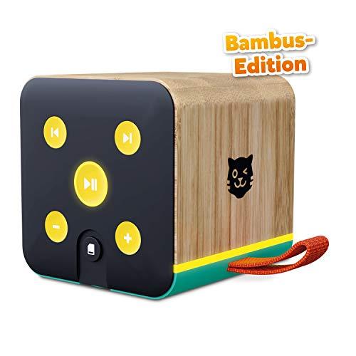Lenco Tigerbox grün Bambus Edition, Bluetooth-Lautsprecher für Kinder, SD-Karten-Slot, Bambus-Gehäuse,...