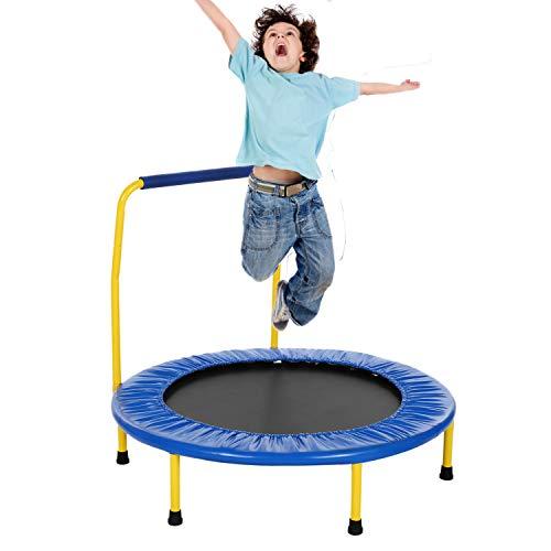 Eloklem Fitness-Trampolin Mini Trampolin, Kindertrampolin Garten Indoor Outdoor Trampolin für Erwachsene...