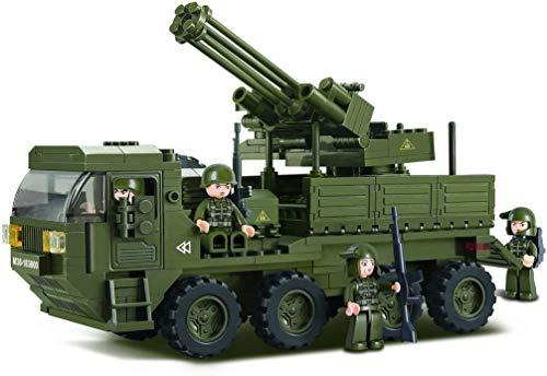 Sluban SL95128, Mobile Flak (306 Teile) [M38-B0302], Spielset , Klemmbausteine, Soldaten, mit Spielfigur,...