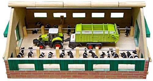 Van Manen 610492 - Bauernhof / Kuhstall 1:87 24x30 cm Holzbau (ohne Zubehör)