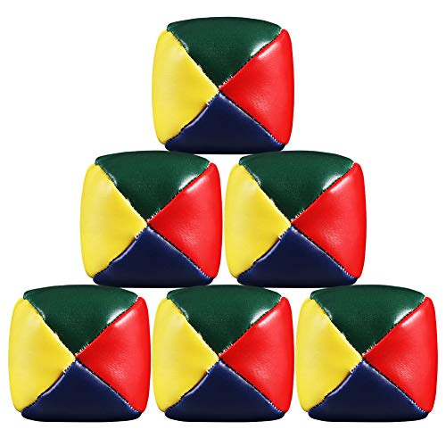 Girls'love talk 6er Set Diabolo Premium Jonglierbälle, 60mm, Premium Jonglierball Set, Wasserabweisend...