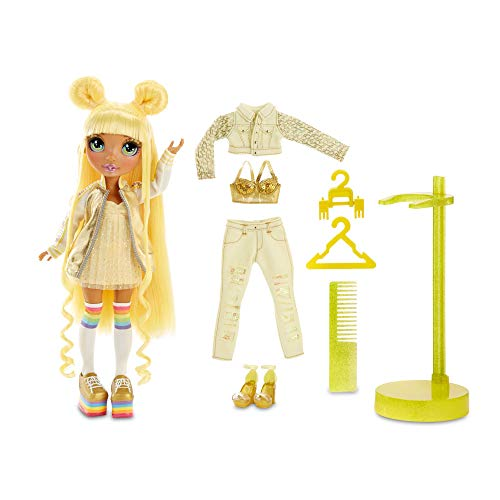 Rainbow High Fashion Doll – Sunny Madison - Gelbe Puppe mit Luxus-Outfits, Accessoires und...