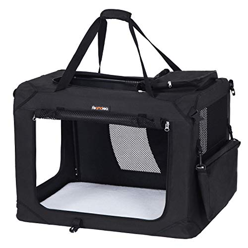 FEANDREA Hundebox, Transportbox für Auto, Hundetransportbox, Faltbare Katzenbox aus Oxford-Gewebe, XL,...
