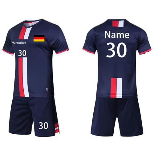 Benutzerdefiniert Trikot mit Hose & GRATIS Name + Nummer Team Logo - Geschenk für Kinder Erw.Jungen...