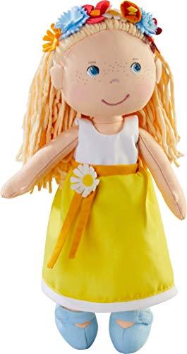 HABA 303664 - Puppe Wiebke , Weiche Stoffpuppe zum Spielen und Kuscheln mit Kleid zum An- und Ausziehen,...