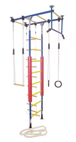KletterDschungel Sprossenwand Indoor Klettergerüst für Kinder (Blau/Gelb, für Raumhöhen von 240-300...