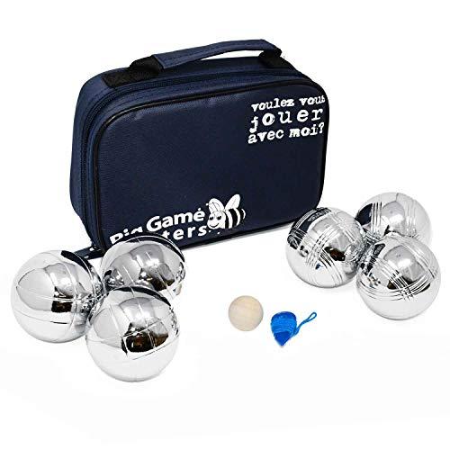 Big Game Hunters Boule 6 Kugel Set mit Rostschutz - 3 Haltbare Polierte Metallkugeln pro Spieler mit...