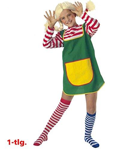KarnevalsTeufel Kinderkostüm Karlinchen Göre Freches Mädchen Räubertochter Zicke Giftzwerg (164)