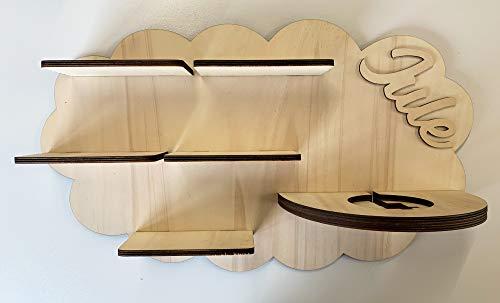 DIY Regal für die Musikbox passend für Toniebox Kinder Baby Zimmer zum selbst bemalen mit Wunschname...