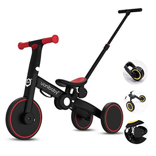 OLYSPM 5 in 1 Laufräder Kinder Dreirad Lauflernhilfe,leichtes Kinderrad Lauflernrad faltbar...