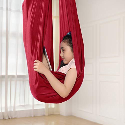 ele ELEOPTION Kinder Schwingen Hängematte, Indoor Schaukel Elastisch Cuddle Hammock Sensory Swing Ideal...