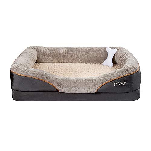 JOYELF XX-Large Foam Hundebett Kleines orthopädisches Hundebett & Sofa mit abnehmbarem waschbarem Bezug...