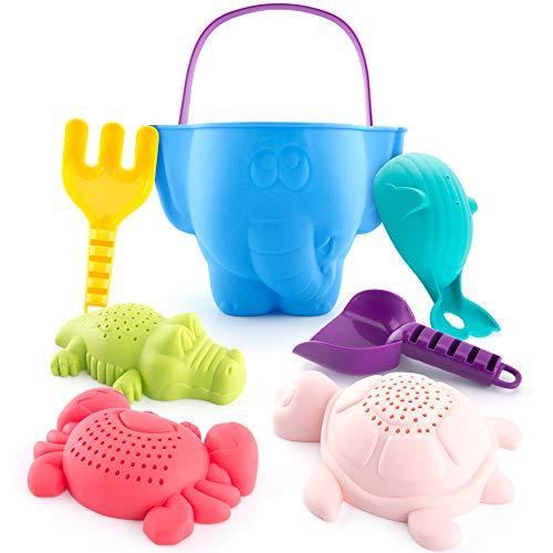 CubicFun Sandspielzeug Set für Kinder und Kleinkinder, Strandspielzeug Enthält Sandschaufel und Eimer,...